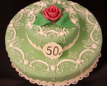 Marsipaani 2-kerroksinen kakku